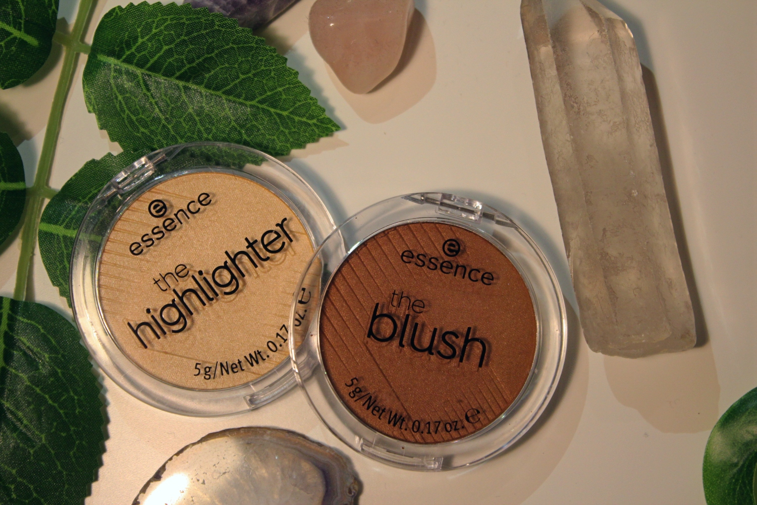 Pictured are the blush and the highlighter.